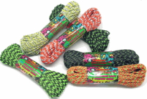 Solid colors, mixed colors, camo. We have great prices on U.S. made 550 paracord rope.
